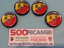 FIAT 500 F/L/R 126 SERIE 4 TAPPI COPRIMOZZO CERCHI ABARTH SCORPIONE BICOLORE 55