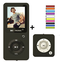 MP3-Player Made in Germany Royal *Duo-Pack* - Schwarz - 100h - robust Wecker