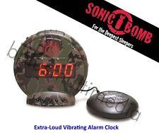 *NEW* Sonic Alert Bunker Bomb Alarm Clock w/ Super Shaker, Extra Loud Vibrating