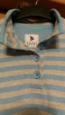 L@@K DASH SIZE 18 STRIPED PULL ON RUGBY STYLE BUTTON NECK JUMPER TOP