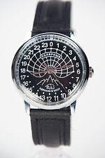 Mechanical watch RAKETA POLAR BEAR 24-HOUR. New. Black dial. 34mm