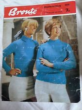 Vintage 1960s Womens Cable Rib Jumpers Knitting Pattern