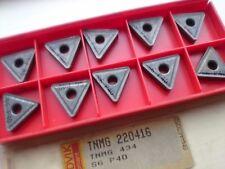 10 Sandvik Carbide Tips TNMG 22 04 16 S6 (TNMG 220416 2204 16 TNMG 434 TNMG 434