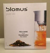 Blomus Tea Jane Pot Jug Coffee Maker Stainless Steel Glass 1 L 63578 NIB