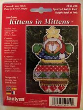 Lot455 Vintage Kittens In Mittens Spotted Ralph Rust Cross Stitch Kit Janlynn