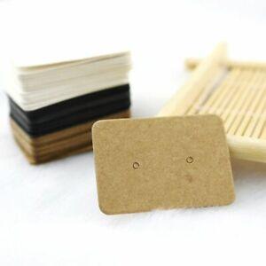 100pcs Blank Cards Earrings Display 2.5x3.5cm Stud Earring Label Tags Jewelry Ma