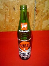 7up Salutes Cincinnati Bengals Commemorative Bottle 1974 Green Riverfront 16 oz