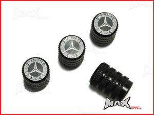 MERCEDES BENZ Set Of 4 Lasered Logo Tire Valve Caps