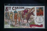 Legends of the West Kit Carson 29c Stamp FDC Handpainted Collins#O2314 Sc#2869n