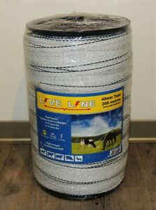 LIVE LINE Electric Fencing 40mm Tape 200 Metres White Liveline