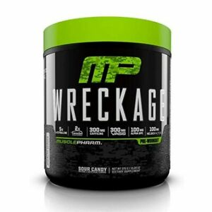 WRECKAGE 25 Serv Sour Candy MUSCLEPHARM Pre-entrenamiento