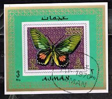 Ajman Papillons Souvenir Feuille 1970