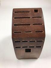 New listing Calphalon 18 Knife Slot Block Wood Storage Organizer Block Only
