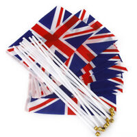 UNION JACK SMALL HAND WAVING FLAG budget pack of 12 FLAGS BRITAIN BRITISH