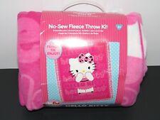 """Hello Kitty No-Sew Fleece Throw Kit Fuchsia 48"""" x 60"""""""