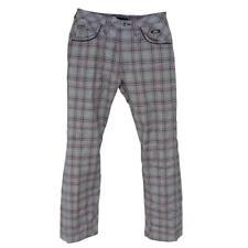 Oakley SKULL Misty Bellbottom 3.0 Size 30 S Mens Shadow Grey Plaid Golf Pants