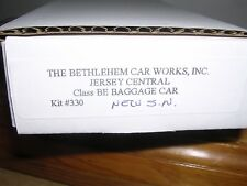 B.C.W. #330  Jersey Central Class BE Baggage Car KIT  H.O.Scale 1/87
