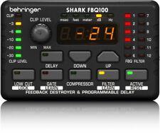 Behringer FBQ100 Shark Auto Feedback Destroyer - Preamp, Delay, Gate, Compressor