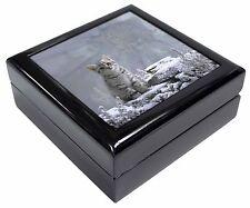 Animal Fantasy Cat+Snow Leopard Keepsake/Jewellery Box Christmas Gift, AC-73JB