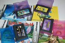 LOT 4 GAMEBOY ADVANCE Games & Manuals - Monsters Inc Shrek Polar Ex Lilo Stitch