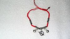 Love Arrow Heart Red Woven Cord Adjustable Bracelet Anklet Jewelry Cool Cotton