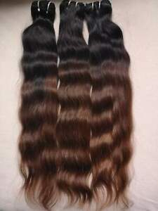 Virgin Remy Burmese Ombre Natural Wave Hair Natural Colour/6 100g