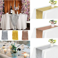 "12"" x 72"" Sequin Tablecloth Table Runner Wedding Party Banquet Home Decoration"