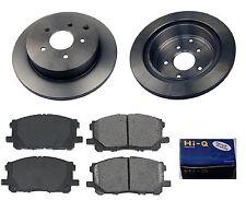 Rear Ceramic Brake Pad Set & Rotor Kit for 2009-2010 Infiniti FX35