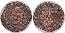 HENRI III Double tournois 1er type de Dijon 1578 Sb.4036