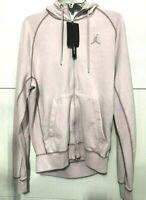 NIKE Air Jordan Wings Men's SZ S Fleece Wash Full Zip Hoodie cd4551 Light Pink