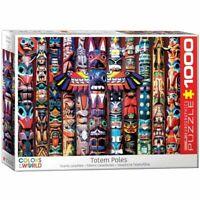 Eurographics  1000 Piece Jigsaw Puzzle Canadian Totem Poles  EG60005349