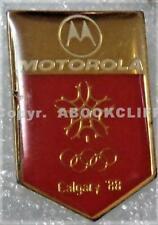 1988 WINTER OLYMPICS CALGARY MOTOROLA SPONSOR SNOWFLAKE Pin Mint