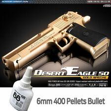 Academy Desert Eagle 50 GOLD Hand Grips Pistol Airsoft 6mm BB Shot Gun # 17223