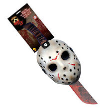 Friday The 13th Jason Mask & Machette Halloween Set Fancy Dress up Scary Costume