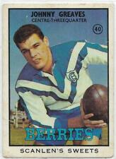 1968 B Nrl Rugby League Scanlens (40) Johnny GREAVES Bulldogs ::