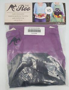 THE ROO Garden Apron, Purple & Black, Hands Free Harvesting / Gardening One Size