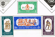 Egypt Tokyo Summer Olympic Games stamps set 1964 MLH