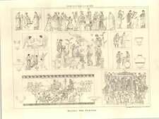 1875 Hellenic Vase Paintings, Line Art, Angels, Costume
