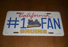 UCLA BRUINS  #1 FAN METAL LICENSE PLATE - NEW