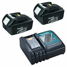 MAKITA 18V LXT LI ION DC18RC CHARGER AND GENUINE 2 PACK BATTERIES - BATTERY PACK