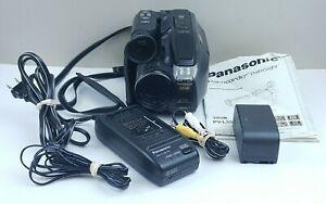 Panasonic VHS-C Palmcorder PV-L559D Camera Camcorder Bundle, Tested, Works