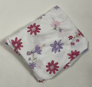 Pottery Barn Crib Sheet White Pink Cake Purple Fairy Floral Cotton