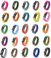 550lb Parachute Cord Rope Braided Survival Emergency Fishbone Bracelet Wristband