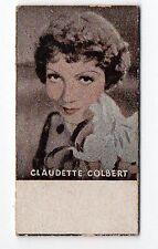 Spanish Weighing Weight Machine Card Photomaton US Actress Claudette Colbert