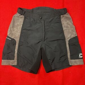 Cannondale Cycling Shorts Brown 100% Nylon Cargo Pockets Women's Small (petite)