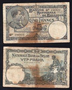 Belgio 5 francs 1924 MB/F  A-03