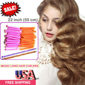 36pcs Magic Long Hair Curlers Spiral Ringlets Leverage Curlers DIY Hair Kit-55CM