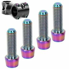 4X M6*18mm Bicycle Titanium Alloy Tapered Bolts Mountain Bike Stem Fixed Screw❤F