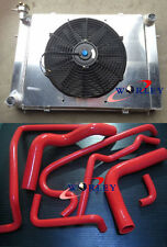 Holden V8 Commodore VG VL VN VP VR VS Aluminum Radiator +Shroud +fan +RED HOSE