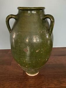 LARGE ANTIQUE EUROPEAN POTTERY STORAGE JUG